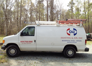 C and J Heating and Air, Inc. service van